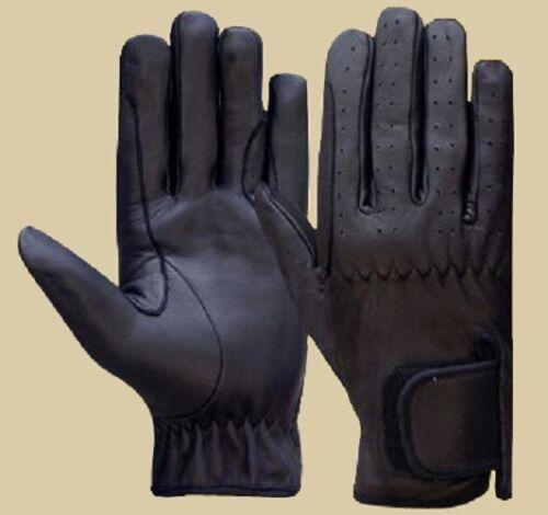Equestrian Gloves Mens 100/%  Real Leather TAN,DARK BROWN /& BLACK Premium Quality
