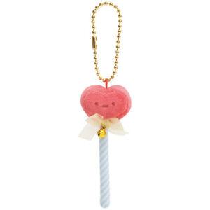 Sumikko Gurashi Plush Keychain Heart Stick Pink San-X Japan