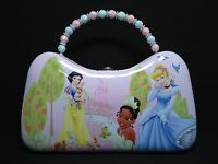 1 Disney Princess Metal Purse With Buckle & Bead Handle Light Pink & Teal 22460