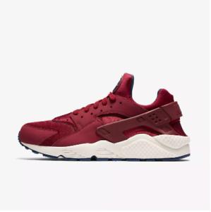New Nike Men's Air Huarache Running Shoes (318429-608)  Team Red/Navy/Sail