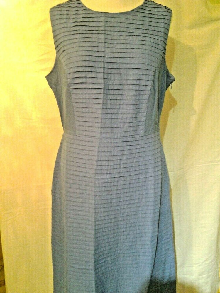 Adini 100% Cotton Sundress Fully Lined Side Zip All Over Pintuck Fabric Waisted
