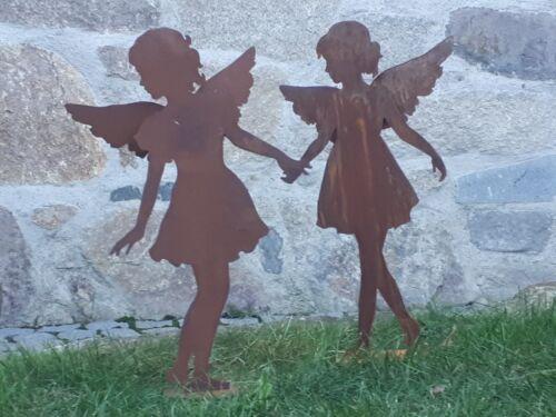 Edelrost Engel zur Wahl Garten Terrasse Skulptur Figur Weihnachten Advent Flügel