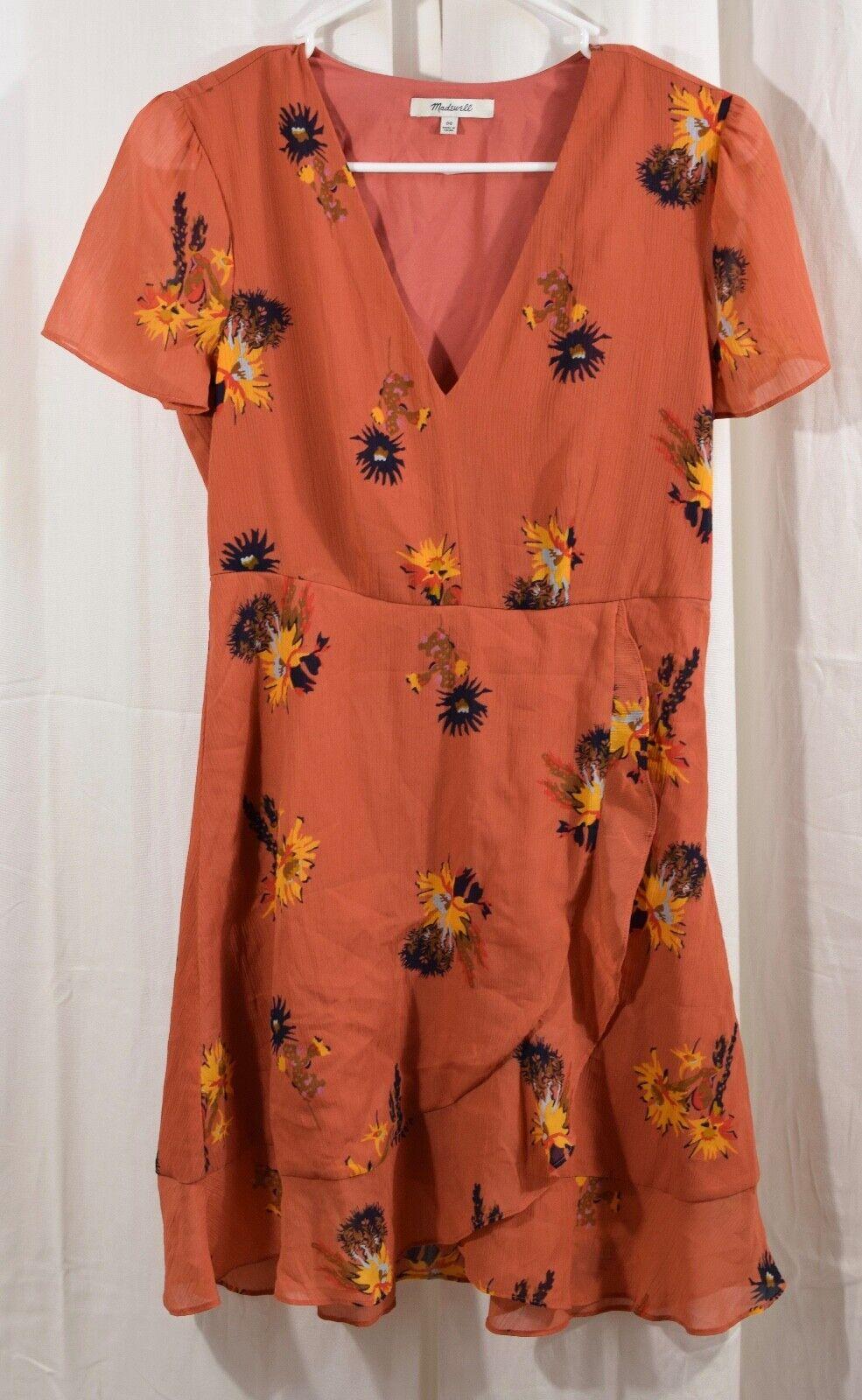 Madewell Posy Cactus Flower Dress Size 0