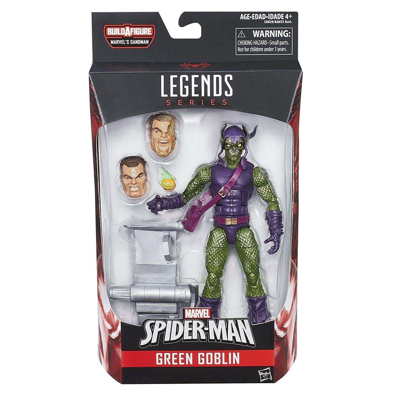 MARVEL LEGENDS SPIDER-MAN GREEN GOBLIN BUILD A FIGURE SANDMAN BAF UNOPENED