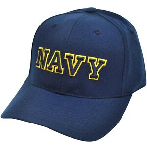 NCAA Navy Midshipmen American Needle Fitted Size 7 1 4 Navy Blue Hat ... 689852e7d