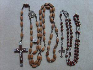 Lot-de-2-anciens-chapelets-rosaires-catholique-de-49-cm-et-31-5-cm-lot-B23