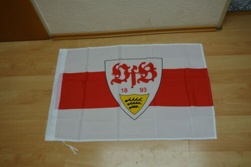 60 x 90 cm Fahne Flagge VfB Stuttgart Wappen mit Hohlsaum