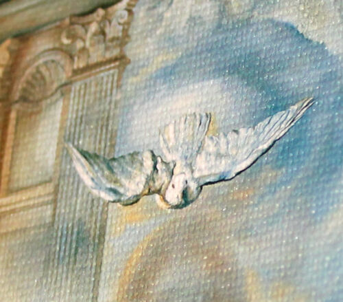 Salvador Dali ecumenical framed canvas print giclee 8X12 reproduction