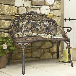 Enjoyable Best Choice Products Cast Iron Antique Rose Garden Bench Bronze Short Links Chair Design For Home Short Linksinfo