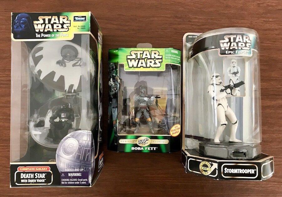 Star Wars Boba Fett 300th Death Star Darth Vader Stormtrooper Action Figure Toy