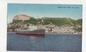 Gibraltar-From-The-Bay-Vintage-Postcard-198b
