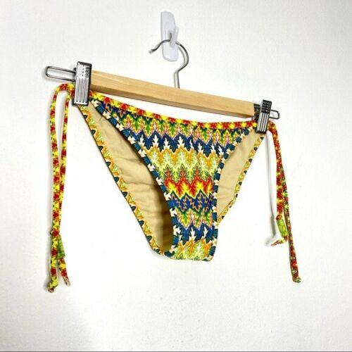 Mora Swimwear Women's 70s Print Multicolor Cheeky… - image 1