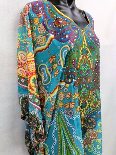 Digital 20 Size Poly 14 Sheer 24 16 Kaftan 22 Chiffon 18 Embellished Printed xvBI6p