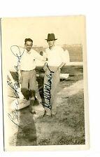 Autograph on Photo early aviators pilots DICK ATEHERLEY & BEN HOWARD