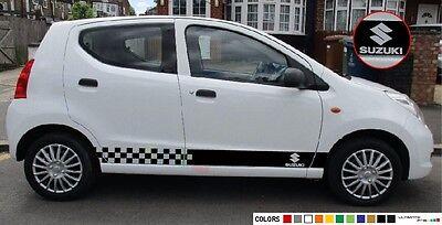 Sticker Decal for Suzuki Alto Stripe Graphics body Cervo Mode Fronte 2009 mirror