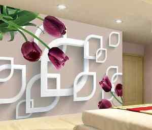 3d Motifs Fleurs 79 Photo Papier Peint En Autocollant Murale Plafond Chambre Art Renforcement Des Nerfs Et Des Os