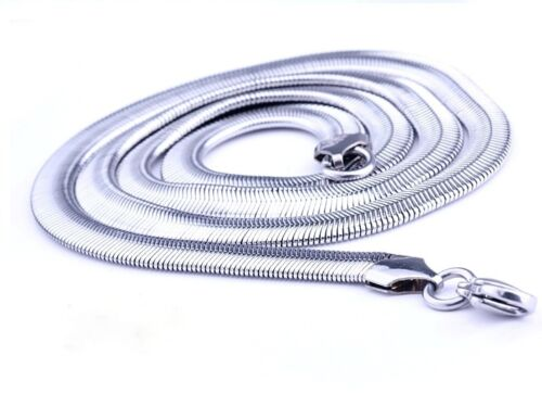 "Women/'s//Men/'s Snake Necklace Stainless Steel Lucky Chain 24/""Link Fashion Jewelry"