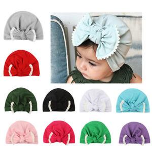 97bb94f98b3 Toddler Infant Cute Kids Baby Boy Girl Turban Cotton Beanie Hat ...
