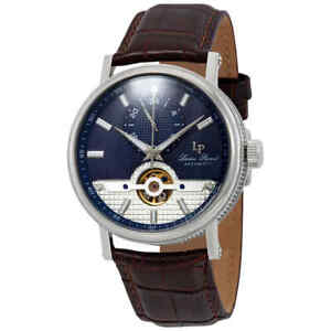 Lucien Piccard Open Heart 24 Automatic Blue Dial Men's Watch LP-28002A-03-BRW