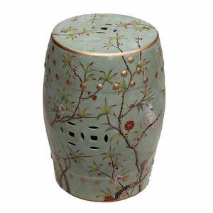 Vintage Style Famille Verte Porcelain Garden Stool Lucky