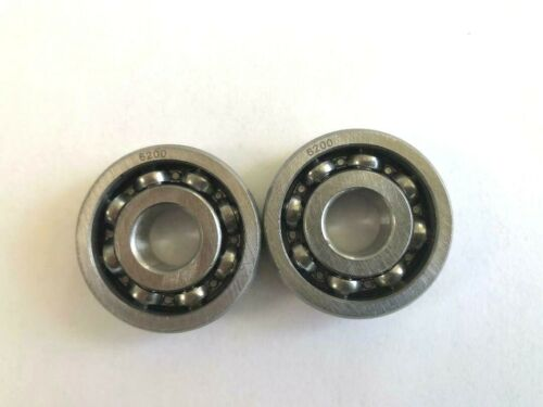 10x 30x 9 mm 2 pcs 6200 Open Ball Bearing