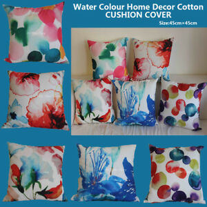 Home Decor Art Vintage Water Color Aqua Set Home Decor Cotton Cushion Cover Pillow Case 18 Home Garden Ohioeyecareconsultants Com
