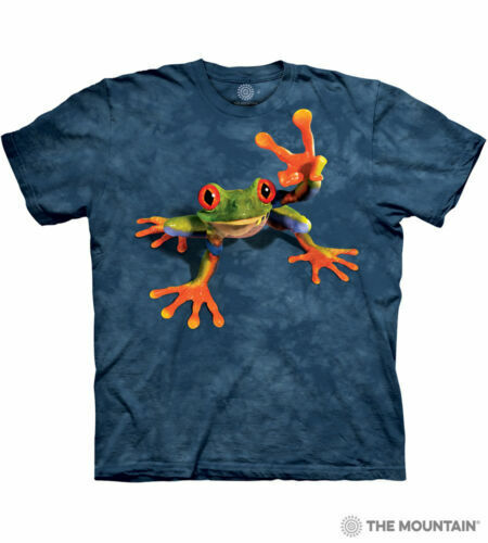 Victory Frog The Mountain 100/% Cotton Kids T-Shirt Youth Sizes M-L NWT