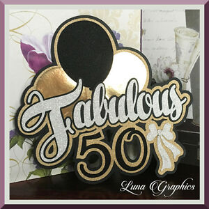FABULOUS 50 Title Paper Piecing card making and scrapbooking