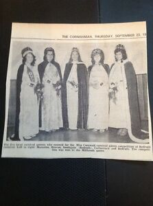 H8-1-Ephemera-1971-Picture-Miss-Cornwall-Carnival-Queen-Millbrook-Southgate-Beac