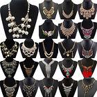 NT Fashion Chunky Crystal Statement Bib Chain Choker Pendant Necklace Jewelry