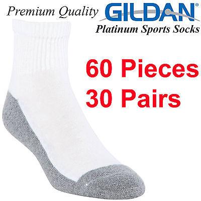 Gildan Platinum Sports Socks above ankle Size 6 7 8 9 10 11 12 Black Men Cotton