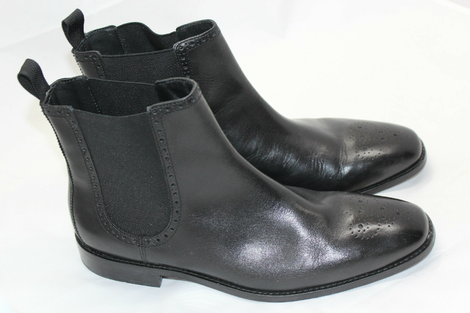 Uomo Cole Haan Giraldo Medallion Chelsea Boot Nero Size 12M C20091 (K2)