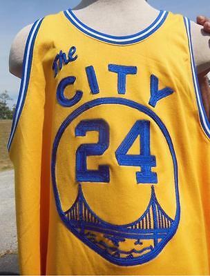 0b7590b06 ... GOLDEN STATE SAN FRAN WARRIORS RICK BARRY NBA 24 MITCHELL NESS JERSEY  SZ 60 3XL ...