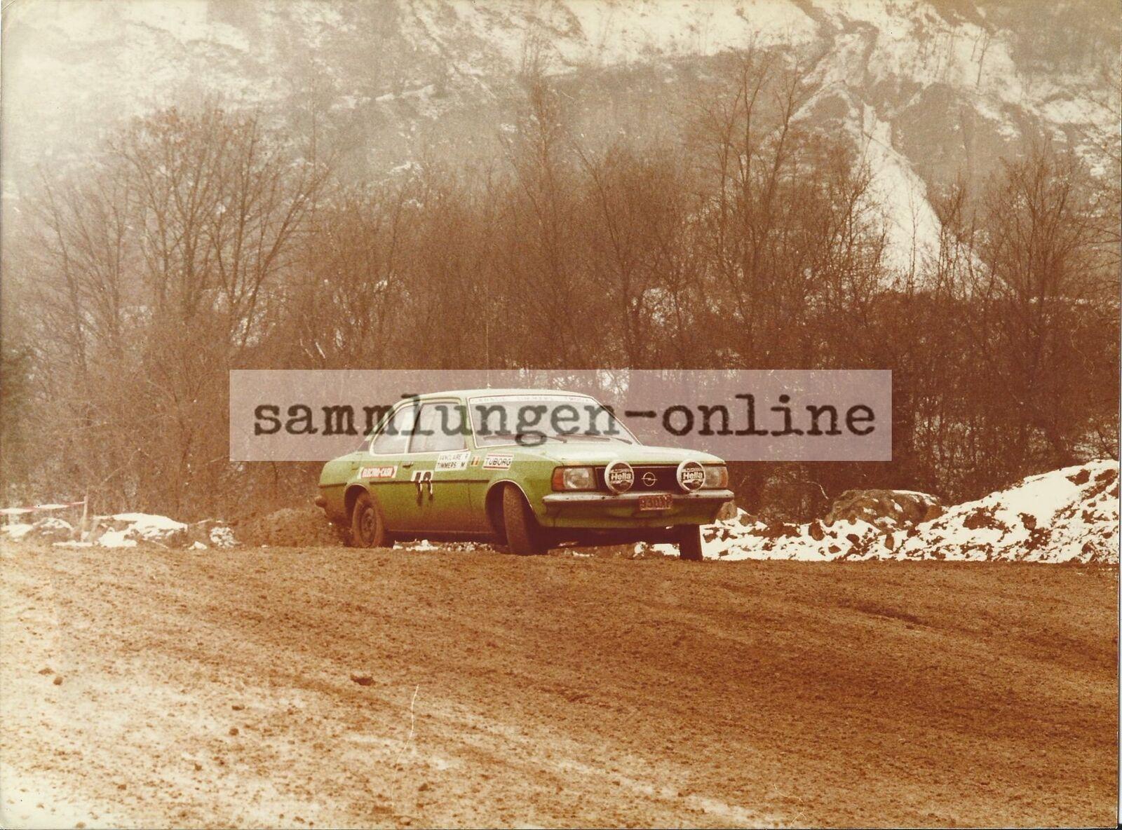 OPEL ASCONA 2000 RALLYE Marc timmers & ROBERT vanclaire FOTO DEPORTES DE MOTOR