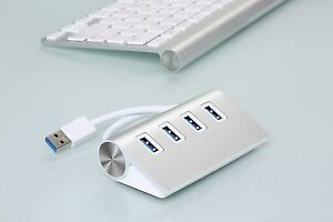 Aluminum-4-Port-USB-3-0-Hub-5Gbps-High-Super-Speed-Adapter-Cable-For-PC-Laptop-U