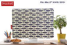 "PC Cover / Dust Jacket - Apple iMac Desktop  27"" - MACKET - BLUE Mackerel Sky"
