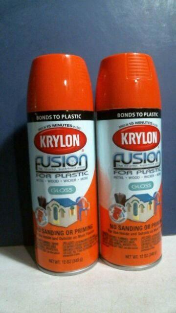 Pumpkin Orange Krylon Fusion Plastic Spray Paint 2337