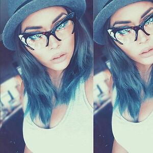 Cat-Eye-Women-Eyeglasses-Clear-Lens-Brown-034-Razor-034-Retro-Vintage-Style