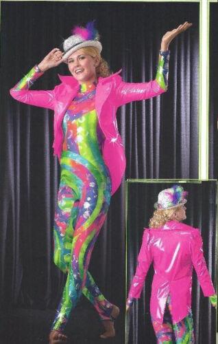 Allegria PINK VINYL COAT Dance Costume Mix n Match CS,M,L,XL,AS,M,L,XL Cirque