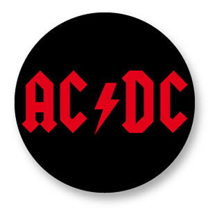 Pin Button Badge Ø38mm AC//DC Hard Rock US Angus Young