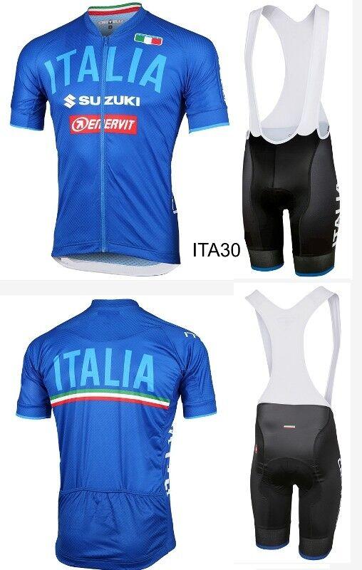 GIRO D'ITALIA 2018 2019 BICI MAGLIA + PANTALONCINO BRETELLE ITALIA MTB CICLISMO