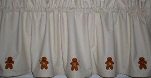 Muslin Valance Tiers Primitive Country