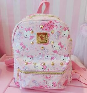 922f4edd7713 Cute Hello Kitty PU Leather Kids Girls Toddler Travel Schoolbag ...