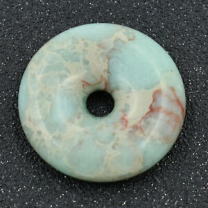 Natural-Round-Donut-Shoushan-Stone-40mm-Gemstone-Pendant-Bead-for-Jewelry-Making