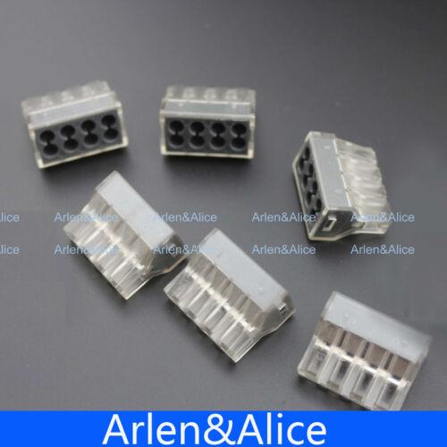 100pcs pct-108 Push Alambre cableado Cable Conector 8 Pin conductor bloque de terminales