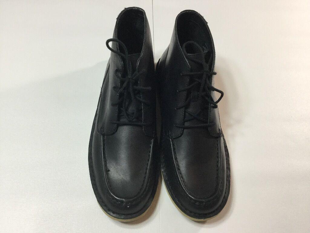 Denim Supply Ralph Lauren para hombre de cuero negro 12 Brackley superior bota