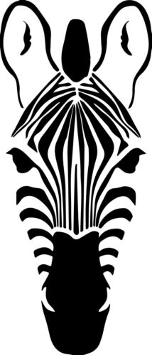 Zebra Head Decal Window Bumper Sticker Car Zoo Stripes Wildlife Pet Animal Horse
