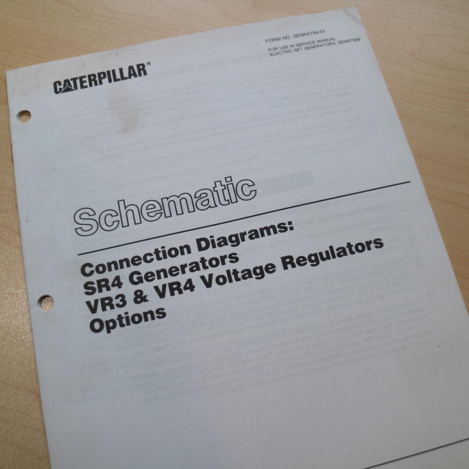 Caterpillar Schematic Diagrams Sr4 Generator Vr3 Vr4 Voltage Regulator  Options for sale online   eBayeBay