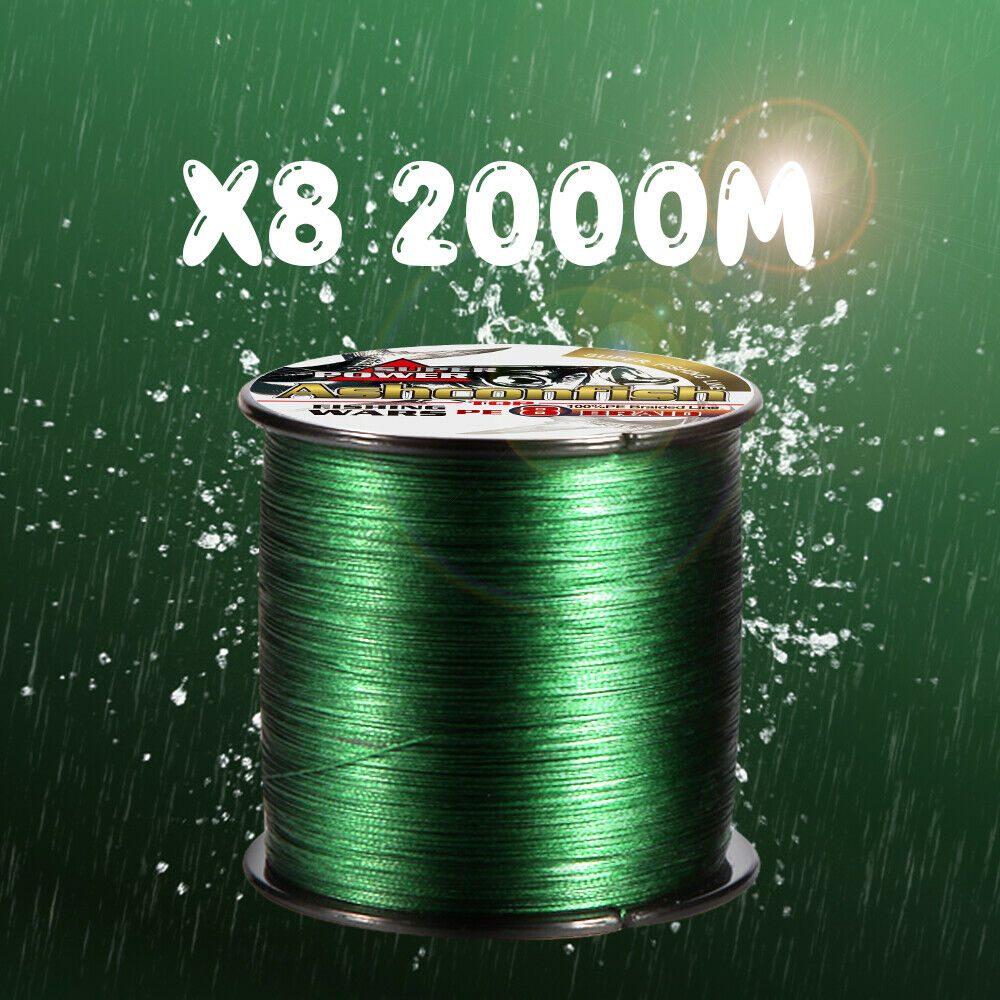 8 Stre Braided pesca Line Multifilauominit Braided 2000m Strong Braided PE Line