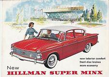 Hilman Super Minx Brochure Catalogue - 1962